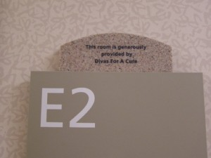 A Room at MD Anderson Cancer Research Center dedicated in the name of Divas For A Cure