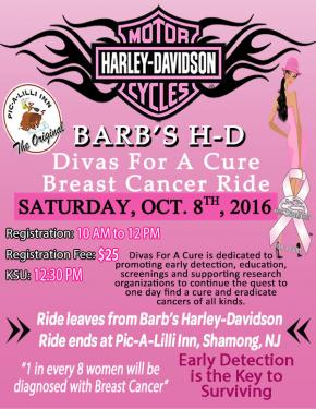 2016 Barb's Divas For A Cure Breast Cancer Ride