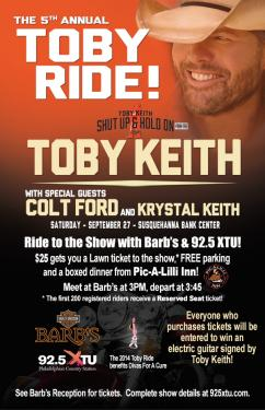 The 5th Annual Toby Ride - Saturday, September 27, 2014